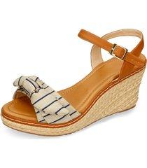 sandalias de plataforma azul bata yesik mujer