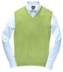 traveler collection washable merino wool men's sweater vest - big & tall
