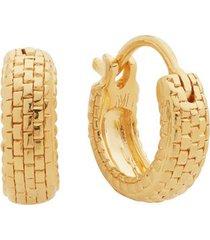 gold doina huggie earrings