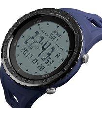 reloj deportivo digital militar skmei 1246 impermeable azul