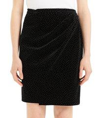 theory plelated wrap skirt - black - size 2