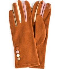women's finger pop color jersey touchscreen glove
