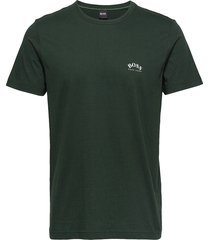tee curved t-shirts short-sleeved grön boss