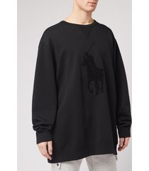 polo ralph lauren men's contrast big pony sweatshirt - polo black - xl