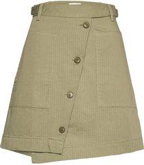amanda skirt knälång kjol grön wood wood