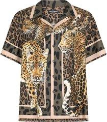 dolce & gabbana leopards print shirt
