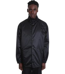 balenciaga casual jacket in black polyamide