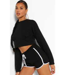 mix & match korte sweater, black