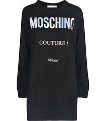 moschino couture! logo sweatshirt dress