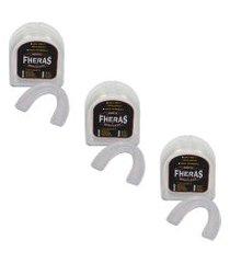 3 protetor bucal anti bruxismo silicone universal com caixa .