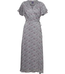 magnolia flower jurk knielengte grijs line of oslo