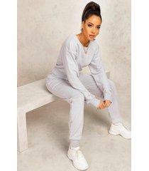 mix & match edition sweat jogger jumpsuit, grey