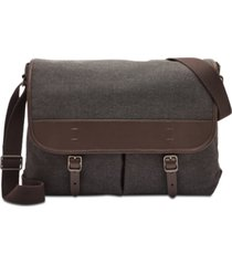 fossil men's buckner canvas messenger bag