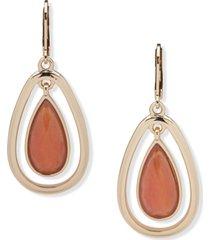 anne klein stone orbital drop earrings