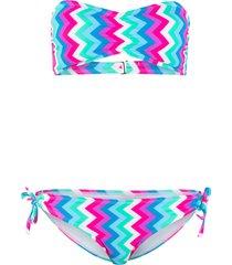 bikini a fascia (blu) - rainbow
