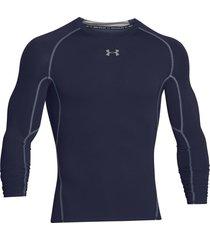 sueter under armour heatgear compression para hombre-negro-negro-azul