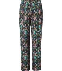 broek met grafische ruitprint en wijde pijpen van anna aura multicolour