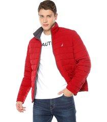 chaqueta doble faz gris-rojo nautica