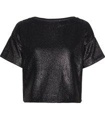tea sequin top blouses short-sleeved svart twist & tango