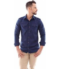 camisa amil paris slim manga longa ii masculina