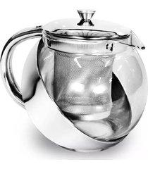 bule para chá ke home vidro com inox 700ml