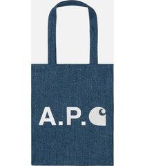 a.p.c. x carhartt tote bag - indigo
