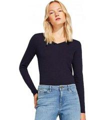 sweater con cuello en v y algodón orgánico esprit