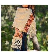 wool shawl, 'sand geometry' (mexico)