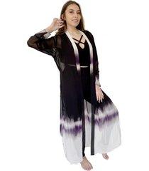 kimono largo tiedye blanco violeta natalia seguel