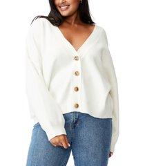 trendy plus size chloe blouson sleeve cardigan