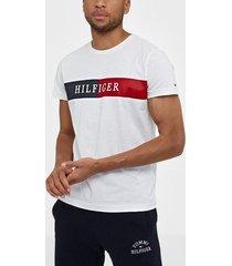 tommy hilfiger block stripe hilfiger tee t-shirts & linnen white
