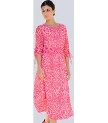 jurk alba moda pink::roze::geel