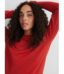na-kd långärmad stickad tröja - red