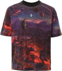 marcelo burlon multicolor printed t-shirt