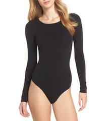 women's yummie thong bodysuit, size small/medium - black