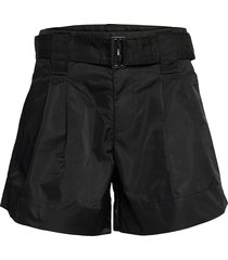outerwear nylon shorts paper bag shorts svart ganni
