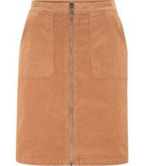 gonna in velluto con tasche (marrone) - bpc bonprix collection