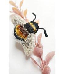 haftowana broszka trzmiel, biżuteria owady