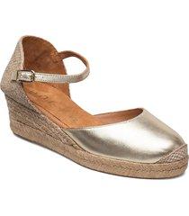 cisca_21_lmt sandalette med klack espadrilles silver unisa