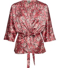 georgina blouse mini blouse lange mouwen roze twist & tango