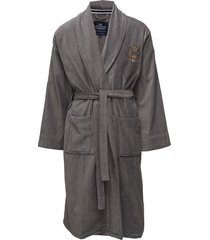 lexington velour robe ochtendjas grijs lexington home