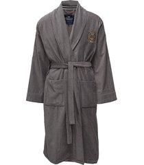 lexington velour robe badjas grijs lexington home