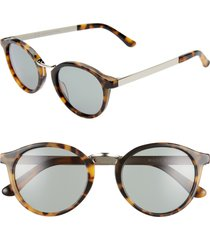 madewell indio 48mm round sunglasses in demi tortoise at nordstrom