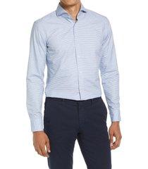 boss jemerson slim fit dress shirt, size 17.5 in light/pastel blue at nordstrom