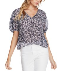 1.state floral-print pleated top