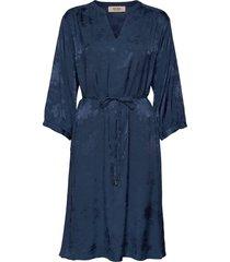 renata flower dress jurk knielengte blauw mos mosh