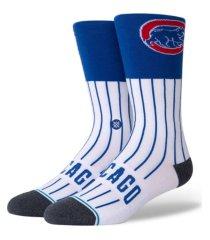 stance chicago cubs color block crew socks