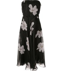 ralph lauren collection floral formal dress - black