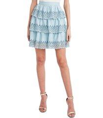 bcbgmaxazria ruffled tiered mini skirt