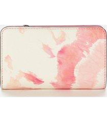 marc jacobs women's snapshot tie dye wallet - pink multi